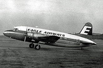 British Eagle - Eagle Airways Vickers Viking at Manchester in July 1959
