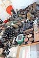Victory Show Cosby UK 06-09-2015 WW2 reenactment display Trade stalls Militaria personal gear replicas reprod. orig. collect. zaphad1 Flickr CCBY2.0 German equipm ammo pouches cantinas flasks binochulars lighters etc IMG 3818.jpg