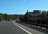 Vietnam Memorial Sign Exit 116