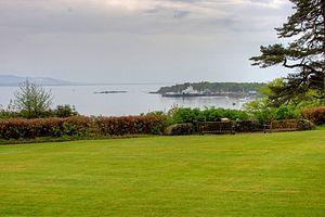 View from Armadale Castle towards Armadale.jpg