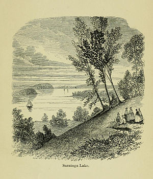 Saratoga Lake - View of Saratoga Lake from the north end in the vicinity of Moon's Lake House about 1867
