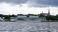 View of Viking Ship Museum from Roskilde Fjord.jpg