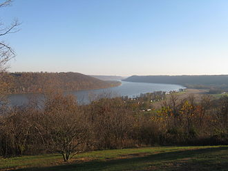 Hanover, Indiana - View of the Ohio River from the Point in Hanover.