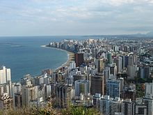 Vista della città di Vila Velha, la più popolosa dello Stato