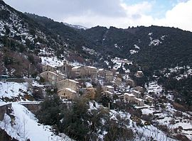 The village of Cargiaca, in the snow
