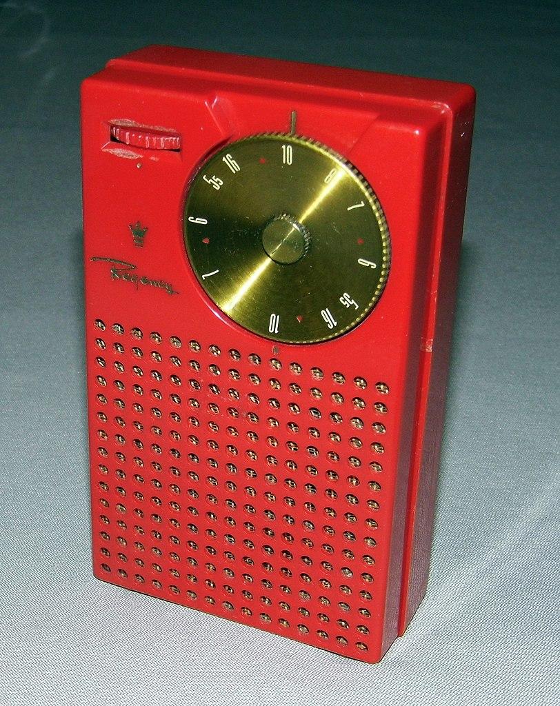 File:Vintage Regency TR-1 4-Transistor Radio, Mandarin Red