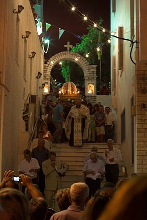 Virgin Mary procession, Chora of Naxos, 118916