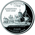 Virginia quarter, reverse side, 2000.png