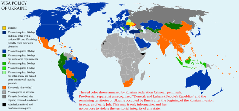 Visa policy of Ukraine   Wikipedia