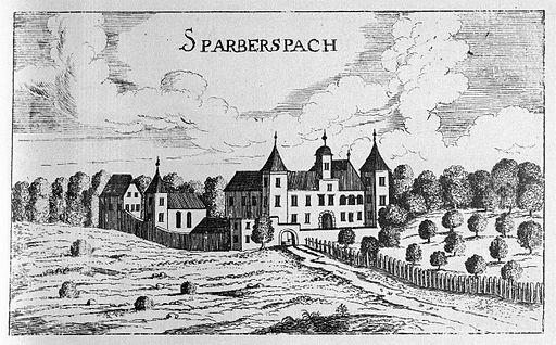 Vischer - Topographia Ducatus Stiria - 134 Graz Sparbersbach