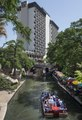 Visitors to San Antonio take a barge ride along the River Walk, a portion of the San Antonio river that winds beneath the streets of the city LCCN2014633122.tif