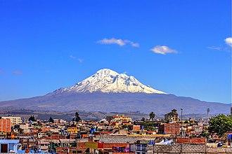 Chimborazo - Image: Vista del Volcán Chimborazo desde Riobamba