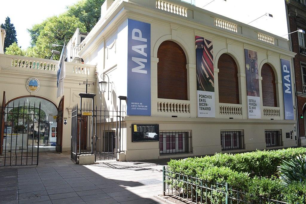 Archivo:Vista del frente del MAP - Museo de Arte Popular José Hernández.jpg  - Wikipedia, la enciclopedia libre