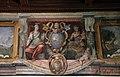 Viterbo, palazzo dei papi, sala dello spirito santo, affreschi di scuola romana del 1592-1605 ca. 01 stemma aldobrandini.jpg