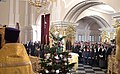 Vladimir Putin at Christmas service at the Church of Simeon and Anna (St. Petersburg; 2018-01-07) 02.jpg