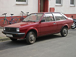 Volkswagen Derby with revised square headlamps (1979-81)