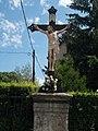 Votive crucifix at the Saint Rosalia chapel in Esztergom, Hungary.jpg