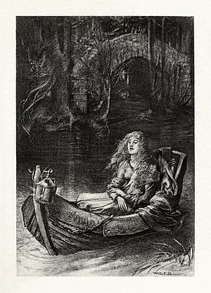 The Lady of Shalott - Illustration by W. E. F. Britten for a 1901 edition of Tennyson's poems