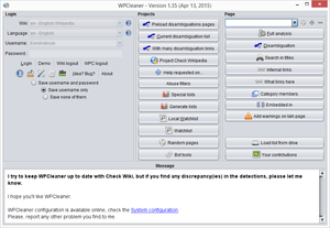 WPCleaner is a maintenance tool for Wikipedia.