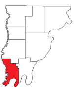 Location of Compton Precinct in Wabash County