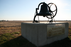 The school monument east of Wadena.