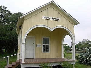 "Sabinal, Texas - The ""Waiting Station"", a historic building in Sabinal"