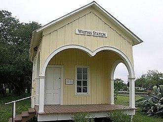 "Sabinal, Texas - The ""Waiting Station"", a historic building in Sabinal"