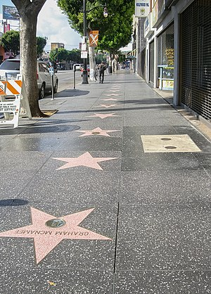 Graham McNamee - McNamee's star (lower left) on the Hollywood Walk of Fame