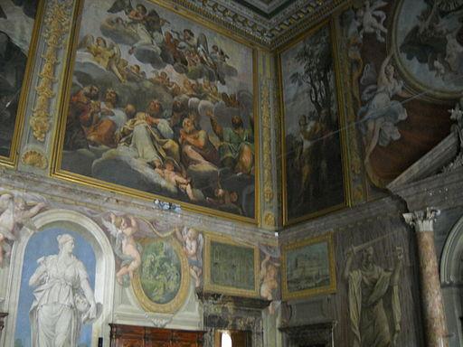 Wall decoration fragment - Sala dei Cento Giorni - Giorgio Vasari - 1547 - Palazzo della Cancelleria