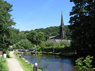 Walsden - Image: Walsden Travis Mill Lock and Church