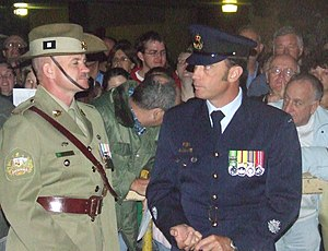 Regimental Sergeant Major of the Army (Australia) - Kevin Woods (left) in 2007
