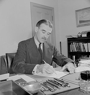 Richard Casey, Baron Casey - Casey in his office as Australian Minister to the United States.