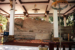 Religion in Cambodia - Buddha at a temple in Ream, Cambodia