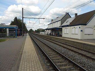 Waterloo, Belgium - The railway station at Waterloo, Belgium.