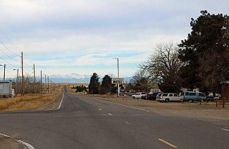 Watkins, Colorado - Watkins, looking west along Colfax Avenue.