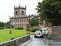 Wedding cars leaving St. Michael's Church - geograph.org.uk - 2095815.jpg