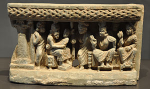 Asita - The prophecy of the seer Asita, slate relief from Gandhara, 3rd/4th century AD (Rietberg Museum, Zurich; Inv. No. RVI 11)