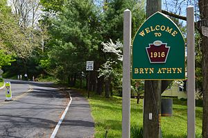 Bryn Athyn, Pennsylvania - Image: Welcome to Bryn Athyn, Pennsylvania