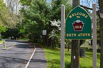 Bryn Athyn, Pennsylvania - Image: Welcome to Bryn Athyn, Pennsylvania