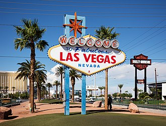 Welcome to Fabulous Las Vegas sign - The sign, just to the south of the Las Vegas Strip, welcoming visitors to the city