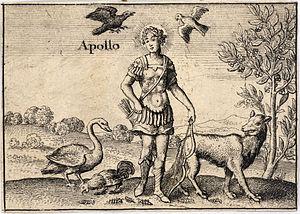 Wenceslas Hollar - The Greek gods. Apollo