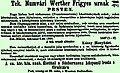 Werther Frigyes hirdetése (Vasárnapi Ujság, 1868).jpg