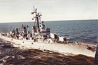 West German destroyer Z 5 (D 179) underway in the North Sea, in March 1981.jpg