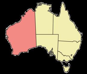 Poloha západní austrálie