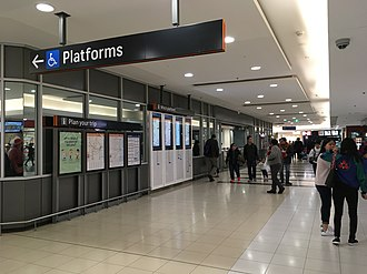 Hurstville railway station - Unpaid concourse within the Hurstville Central shopping centre