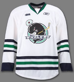 Plymouth Whalers -  Whalers White Reebok EDGE Jersey