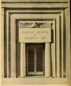 Whitney Museum of American Art (original building) - Doorway, ca. 1937