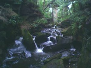 Whitworth, Lancashire - River Spodden running through Healey Dell.