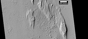 Yardangs on Mars - Image: Wiki ESP 035295 1885yardangs