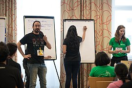Wikimedia Hackathon Vienna 2017-05-19 Mentoring Program Introduction 019.jpg